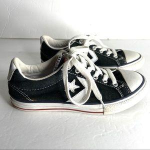 Converse Black Canvas Kids Sneakers